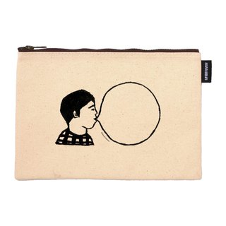 Bubble man BUBBLE GUM synthetic canvas zipper bag