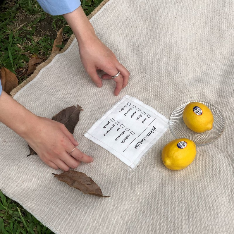 Picknic for no reason cotton linen picnic mat / table mat