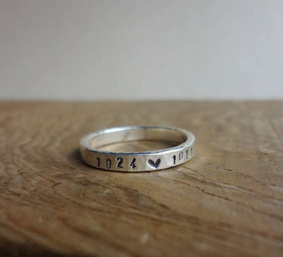 Forging Password Manual Wrought Knock Silver Ring - Customized Knocking
