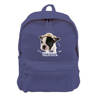 The Dog big dog license - new zipper backpack (Navy)