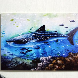 Tofu shark spot spot whale shark postcard watercolor