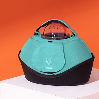 [UFurO Mao Xingren UFO Pet Bag - Mint Green] Pet out of the cage out of the bag