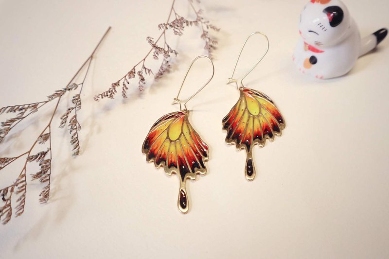 Butterfly Wing Tree Earrings