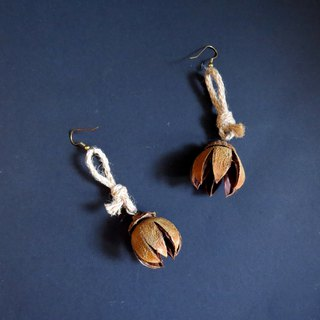 No.10 Large flower Lagerstroemia natural handmade earrings