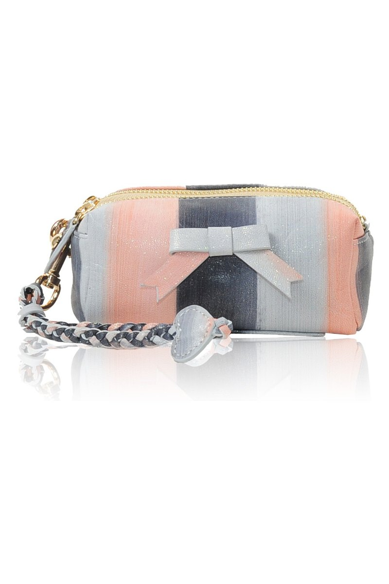 Bebe Leather Bag Silvery Peach