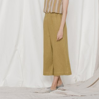 BUFU unisex loose pants in mustard yellow  P171117