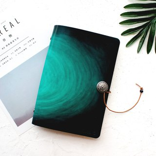Dark green halo loose-leaf leather notebook hand book manual leather notebook customized A5 A6 A7