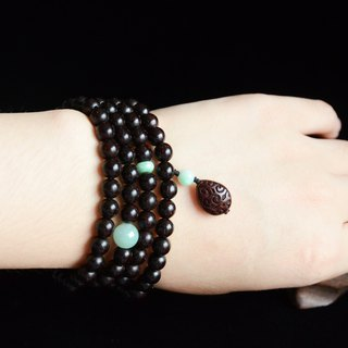 [森] 臻佩 original design lobular rosewood fresh literary bracelet