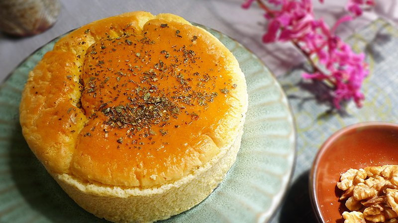 — Gluten-Free — Sugar-Free Brown Rice Cake - Nut Salted Cheese (6吋)