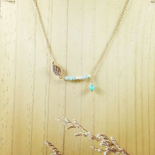 Dream wings Tianhe stone sea sapphire natural pearl _ clavicle chain
