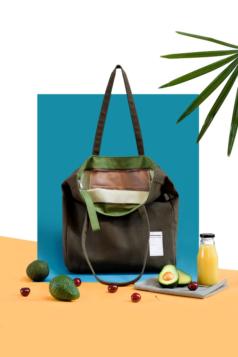 PORTION TOTE BAG / AVOCADO
