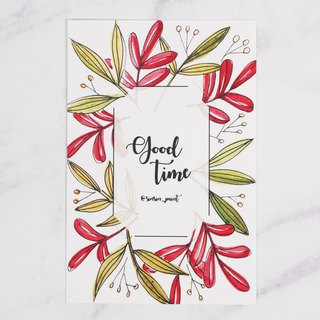 Good Time Botanical Instax Photo Frame Card - Passion