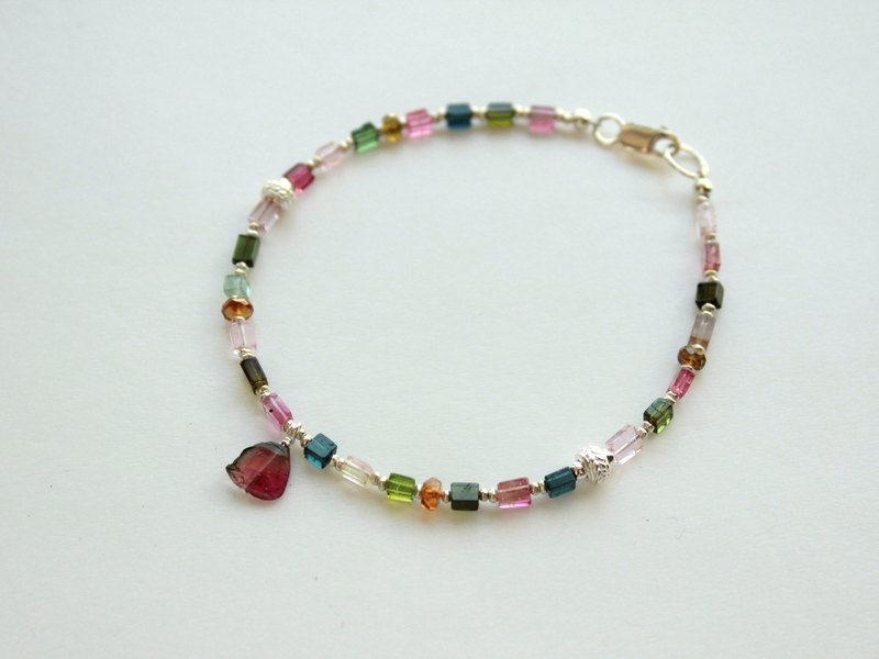 Journal sunny Tea / natural tourmaline, sterling silver bracelets (the last one)