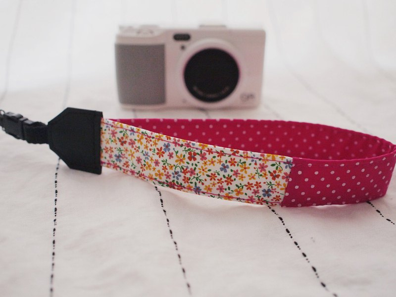 Hairmo small yellow flower stitching hand night camera belt / mobile phone belt (single hole 17)