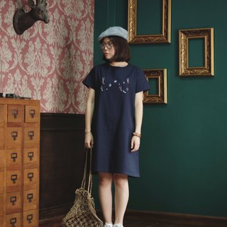 Venus Dress :  Circus - Navy Color