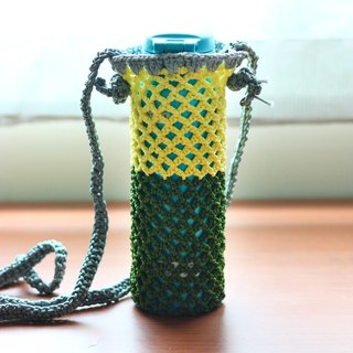 Yellow green kettle / drink bag