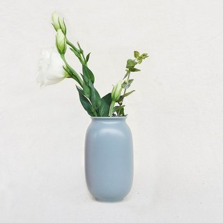 Simple Nordic Wind Flower -Tall Cylinder (M) (Gray Blue)