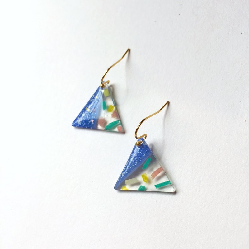 Triangular Royal Rice Group Clip/Pin Earrings