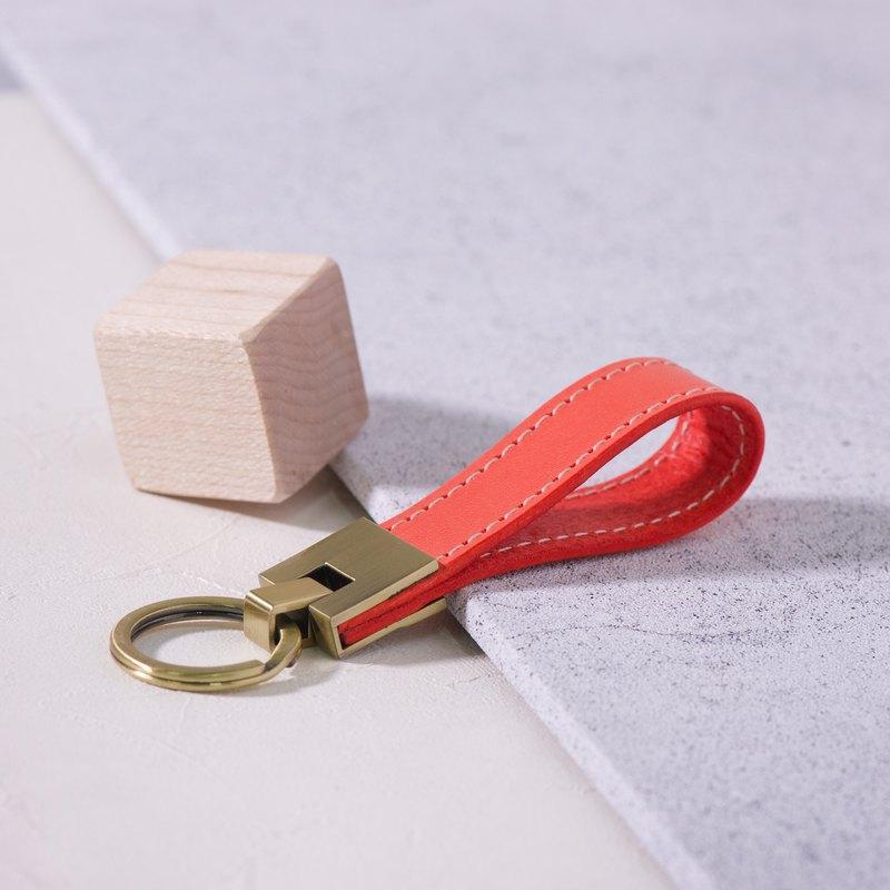 長條鑰匙圈Long Key Chain - 螢光橘 Orange / 免費刻字 交換禮物/ 免費刻字 | 聖誕禮物 |