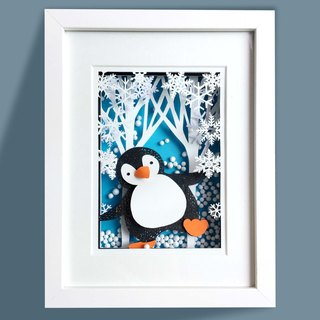 3D Layered Paper Cutting Animal Series - Penguin