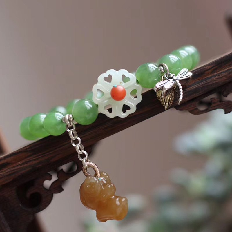 [New store welfare price] original natural jasper bracelet / match Hetian jade sugar lamb / very sweet