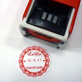 Lace chapter series-4.2 cm date chapter-S542D flip chapter back ink seal shop chapter wedding seal chapter
