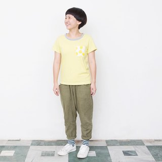 Mushroom MOGU / Organic Cotton / Pocket Short Sleeve / Sun Cake