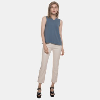 Side Placket Pants (Beige)