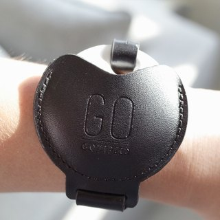 GOstrap-static black-GOGORO key leather bracelet