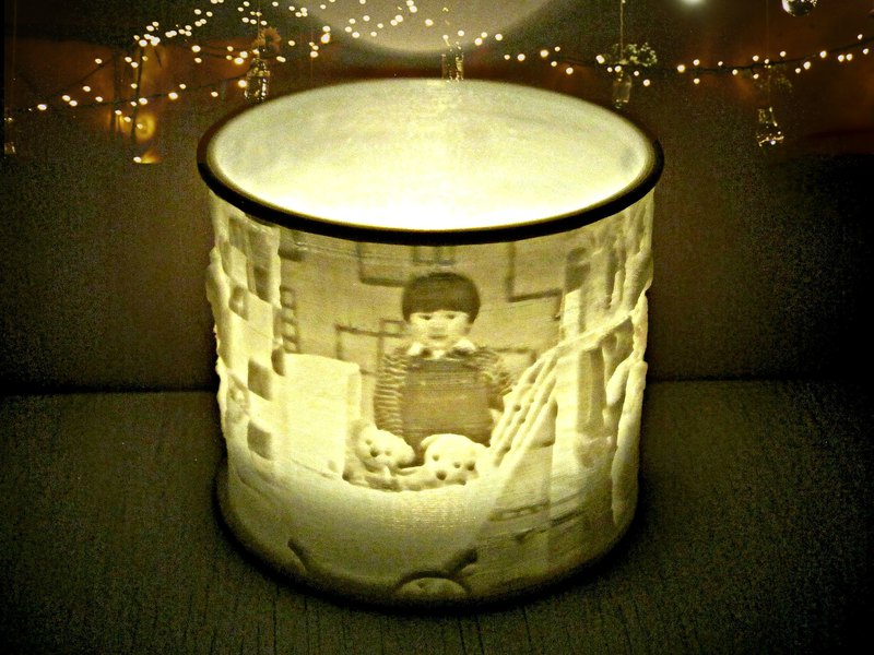 Custom Photo LED Candle / Night Light / Lithophane / Tealight Holder, incl. LED