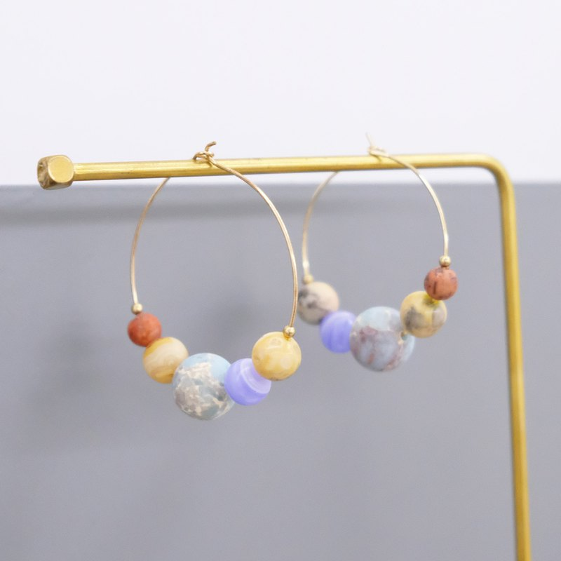 ALYSSA & JAMES Moon Series Moon Planet Circle Earrings