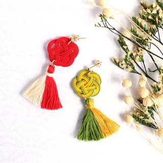 japanese style pierce earring / mizuhiki / japan / accessory / bird