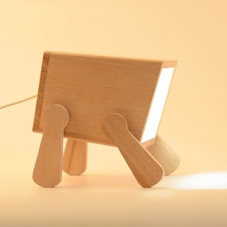 Beech wood dog lamp night light swing creative design gift solid wood material
