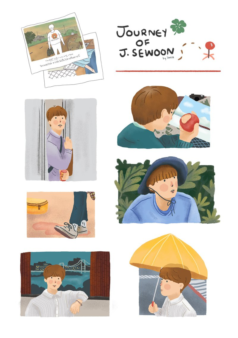 Sticker J.Sewoon Set
