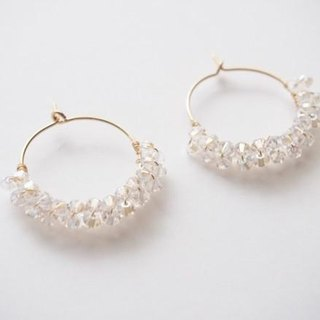 hoop earing pierce crystal moonlight
