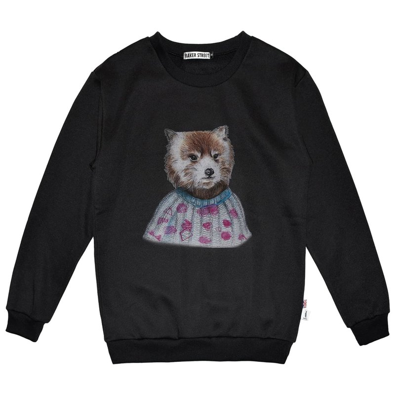 British Fashion Brand -Baker Street- Coon Printed Sweatshirt