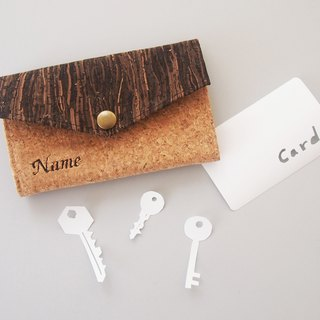 Personalized Name Mixed Cork Key Holder Key purse Key case