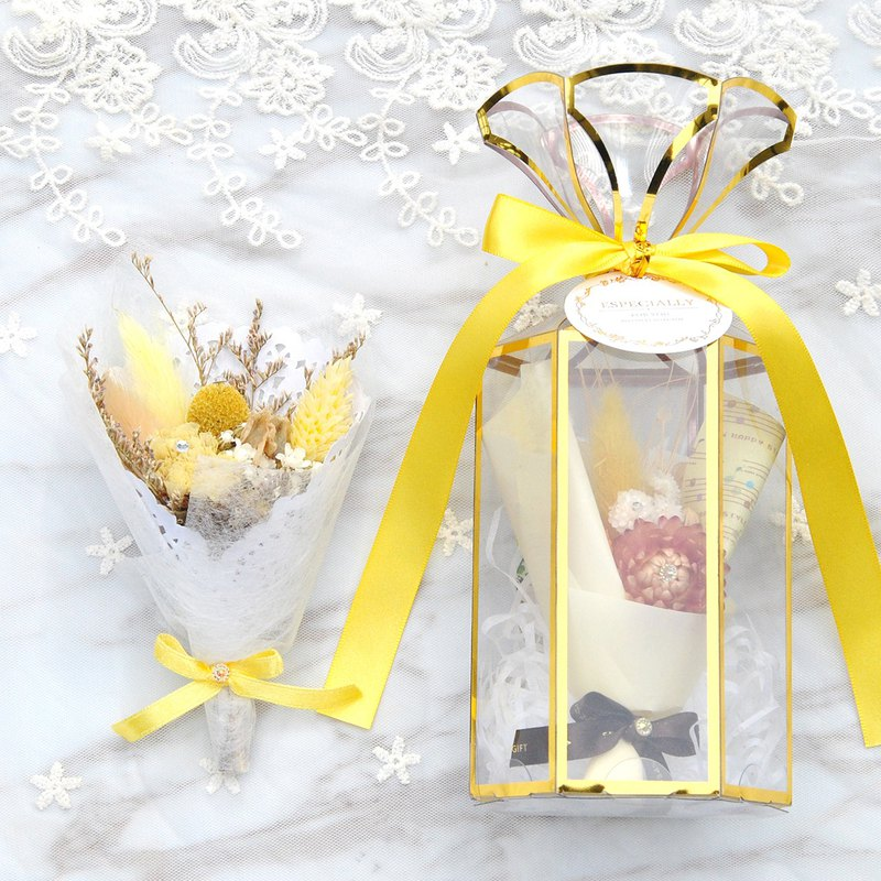 Mini Dry Bouquet Gift Box-Sunny Orange (Medium) With Card Valentine's Day Bouquet Valentine's Day Gift