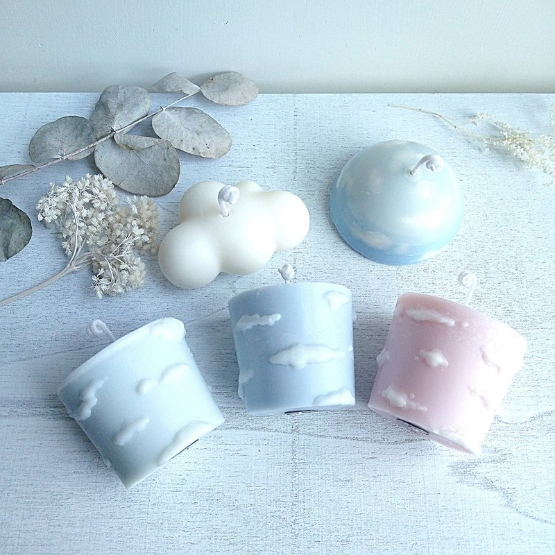 Lovely Cloud | Set of 5 Candles | Natural Soywax Scented Candle