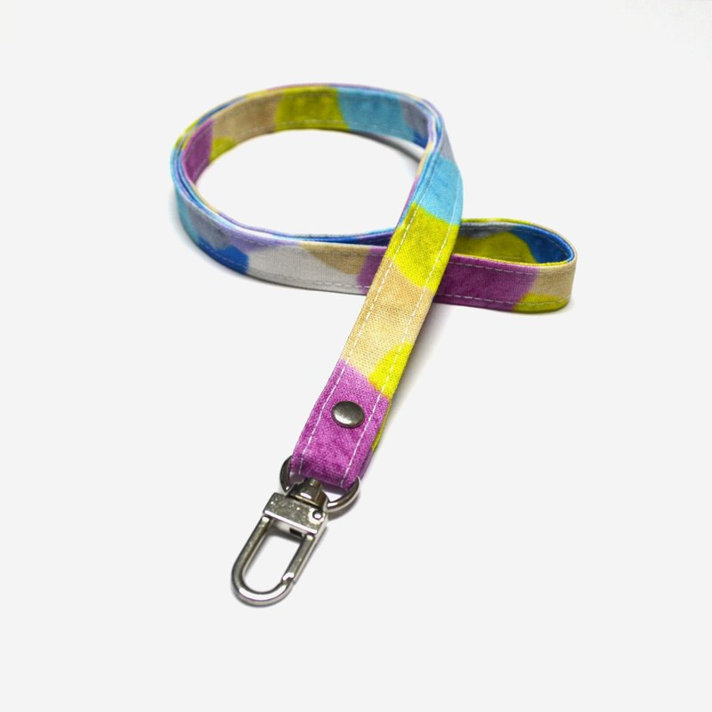 Colorful yarn balls Lanyard/ID Badge Holder/Long Keychain/Lanyard with Swivel Cl
