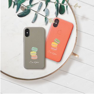 Colorful macarons leather iphone case for i7,i7plus,i8,i8plus,iX