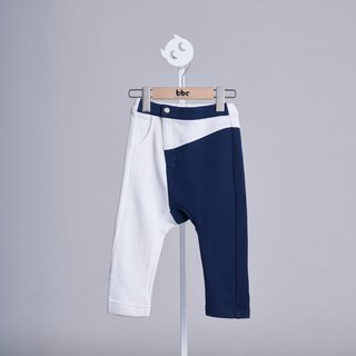 Personalized stitching trousers (white)