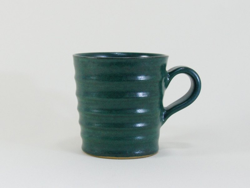 Chrome green wave cup, coffee cup, teacup, cup, mug - capacity about 270ml