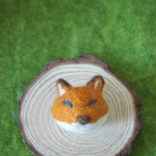Wool Felt Fox Mr. Pin / Brooch Ordering