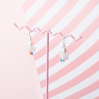 YUNSUO-original design- white angel crystal earrings