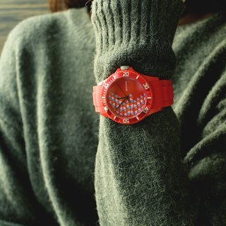 【PICONO】POP Circus Sport Watch - Happy Bird(Red) / BA-PP-02