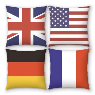 AppleWork iPillow a group of four creative pillow flag PSIP-33-36