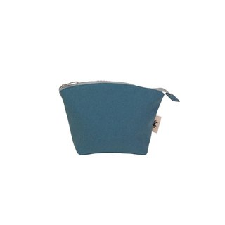[Seashell Cosmetic Bag] - Misty Blue Canvas (Small)