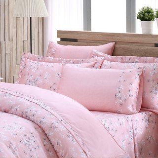 Extra large size fresh flower bud (powder) - Tencel dual-use bedding set of six pieces [100% lyocell]