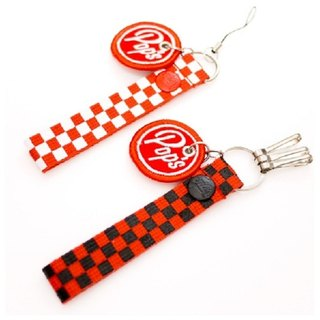 The Big Pop Checkerboard Key chain & cell phone strap 復古美式速食風鑰匙圈&手機吊飾